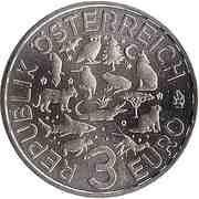 3 Euro (The Parrot) -  reverse