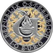10 Euro (Heavenly Messengers: Uriel - The Illuminating Angel; Colored) -  obverse