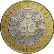 50 Schilling (Johann Strauss) -  reverse
