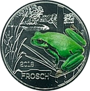 3 Euro (The Frog) -  reverse