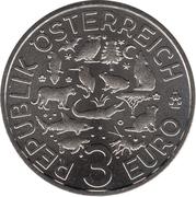 3 Euro (The Turtle) – reverse