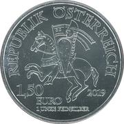 1½ Euro (825th Anniversary of the Vienna Mint - Wiener Neustadt) -  obverse