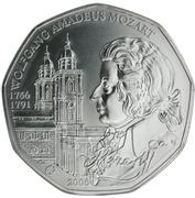 5 Euro (Wolfgang Amadeus Mozart) -  reverse
