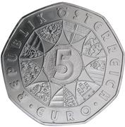 5 Euro (Wolfgang Amadeus Mozart) -  obverse