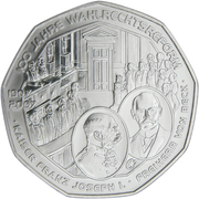 5 Euro (Universal Male Suffrage) -  obverse