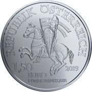 1½ Euro (825th Anniversary of the Vienna Mint - Leopold V) -  obverse