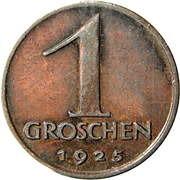 1 Groschen – reverse
