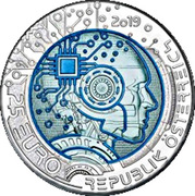 25 Euro (Artificial Intelligence) -  obverse