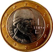 1 Euro (2nd map) – obverse