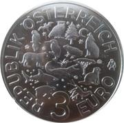 3 Euro (The Otter) -  reverse