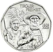 5 Euro (Tyrolean Resistance) -  reverse