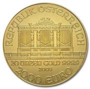 2000 Euro (Vienna Philharmonic) – reverse