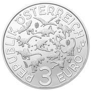 3 Euro (Spinosaurus) – obverse