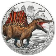 3 Euro (Spinosaurus) – reverse