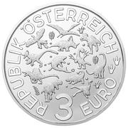 3 Euro (Mosasaurus) – obverse
