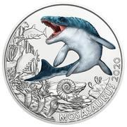 3 Euro (Mosasaurus) – reverse