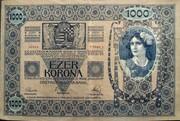1000 Kronen (Overprint) – reverse