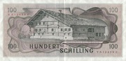 100 Schilling (2nd issue) -  reverse