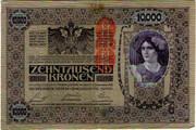 10000 Kronen (Overprint) -  obverse