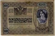 10000 Kronen (Overprint) -  reverse