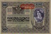 10 000 Krone (Overprint) – obverse