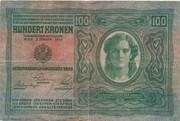 100 Kronen (Overprint) – reverse