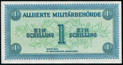 1 Schilling (Allied Military Authority) – obverse