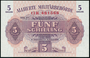 5 Schilling (Allied Military Authority) – obverse