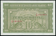 10 Schilling (Allied Military Authority) -  obverse
