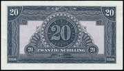 20 Schilling (Allied Military Authority) -  reverse