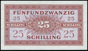 25 Schilling (Allied Military Authority) -  reverse