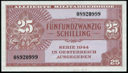 25 Schilling (Allied Military Authority) – obverse