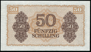 50 Schilling (Allied Military Authority) – reverse
