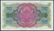 1000 Schilling (Allied Military Authority) – reverse