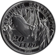 20 Euro (Above the clouds - Reaching for the Sky) – obverse