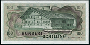 100 Schilling (1st issue) -  reverse
