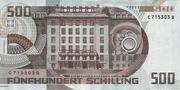 500 Schilling (Otto Wagner) – reverse