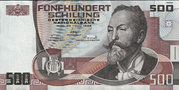 500 Schilling (Otto Wagner) – obverse