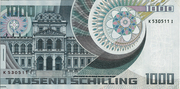 1000 Schilling – reverse