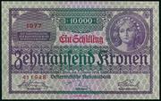 1 Schilling on 10,000 Kronen -  obverse