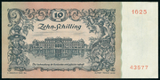 10 Schilling (First issue) – reverse