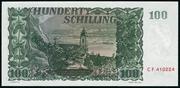 100 Schilling – reverse