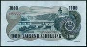 1000 Schillings (Viktor Kaplan; large type) – reverse