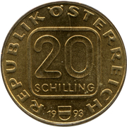 20 Schilling (200 Years of Diocese Linz) -  obverse