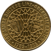 20 Schilling (200 Years of Diocese Linz) -  reverse