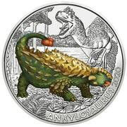 3 Euro (Ankylosaurus) – reverse