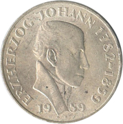 25 Schilling (Erzherzog Johann) -  reverse
