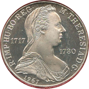 25 Schilling (Maria Theresia) -  reverse