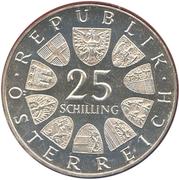 25 Schilling (Lukas von Hildebrandt) -  obverse