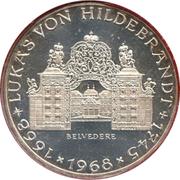 25 Schilling (Lukas von Hildebrandt) -  reverse